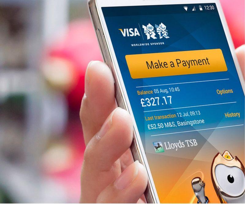 Aplikace pro bezkontaktní platby: VISA